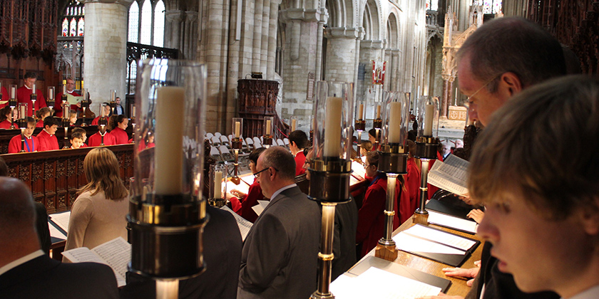 Evensong with Peterborough Cathedral Old Choristers' Association