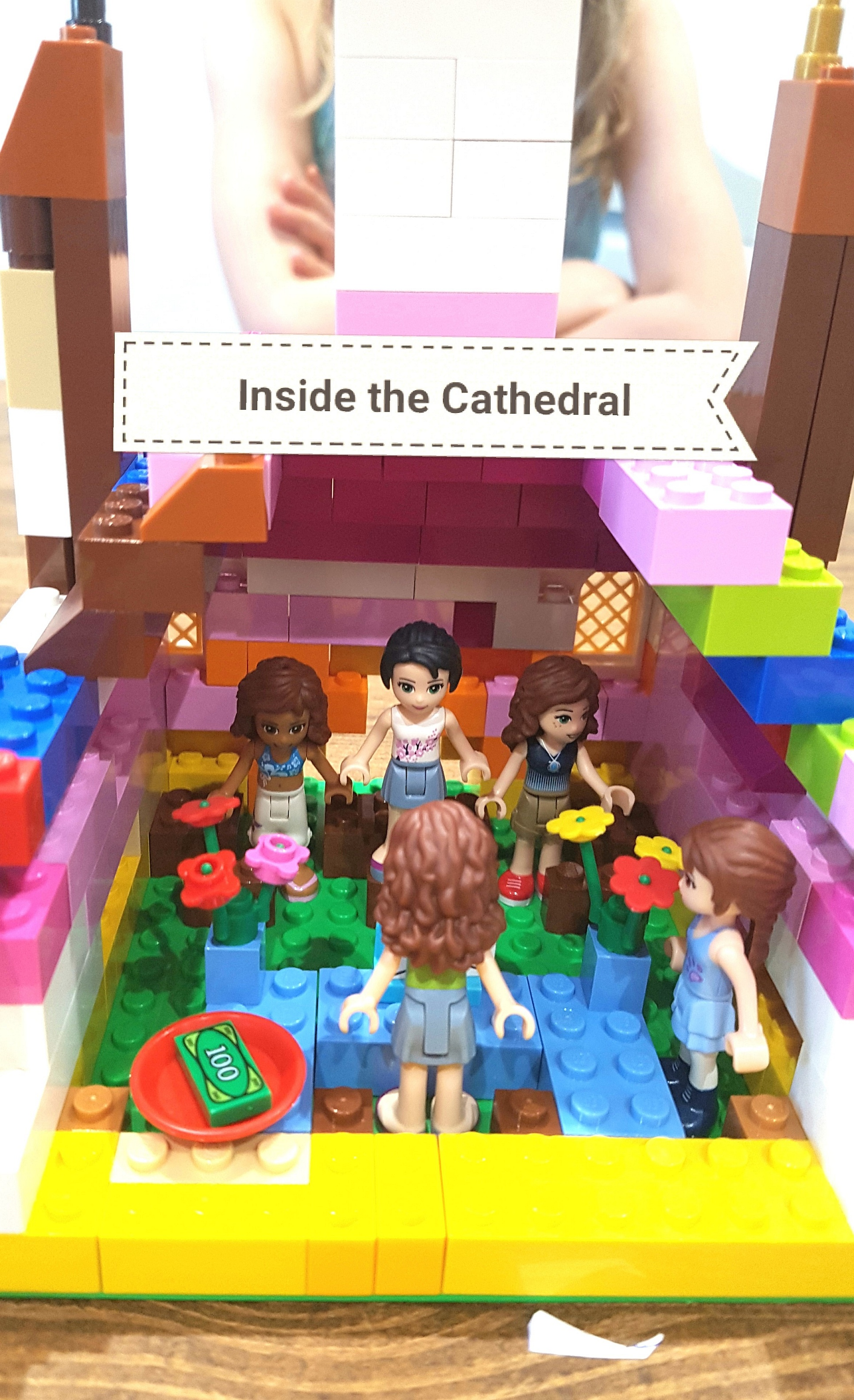 Inside the Lego cathedral