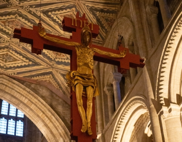 Cross hung in the Cathedral