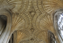 The mesmerising fan-vaulting of the New Building at the east end of the Cathedral. c1500