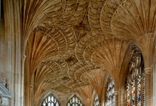The fan vaulted ceiling in Peterborough Cathedral New Building