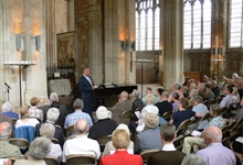 A recital in Peterborough Cathedral New Building