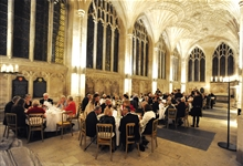 A candlelit dinner in Peterborough Cathedral New Building