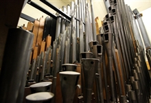 Some of the 5286 pipes of Peterborough Cathedral organ