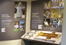 A display showing the Cathedral's role as a place of worship, right up to the present day