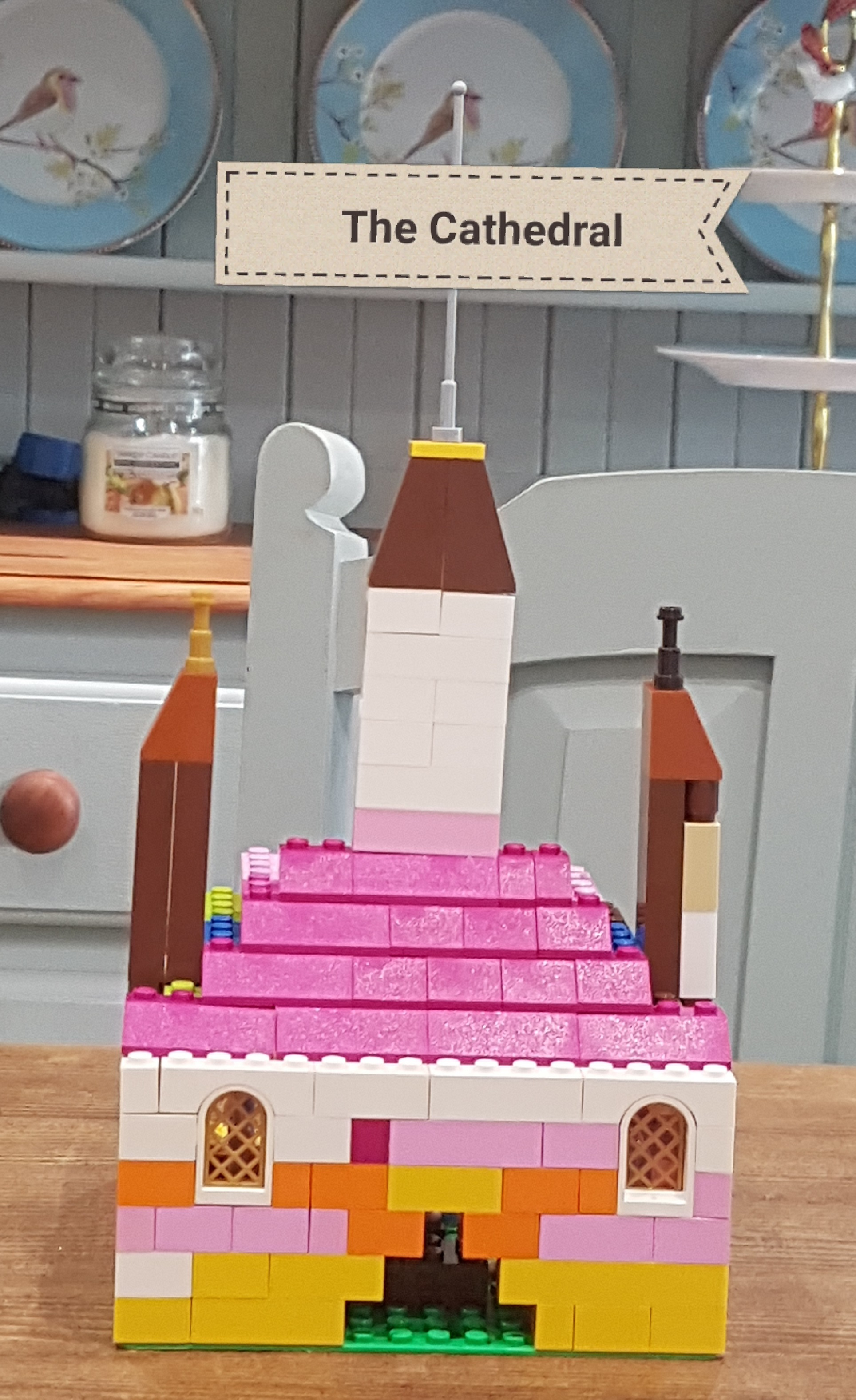 Lego Cathedral made by a chorister