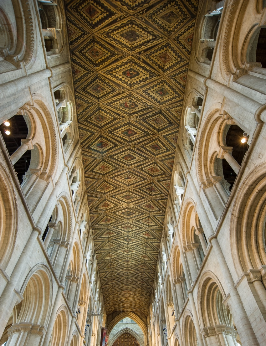 Peterborough Cathedral Nave ceiling