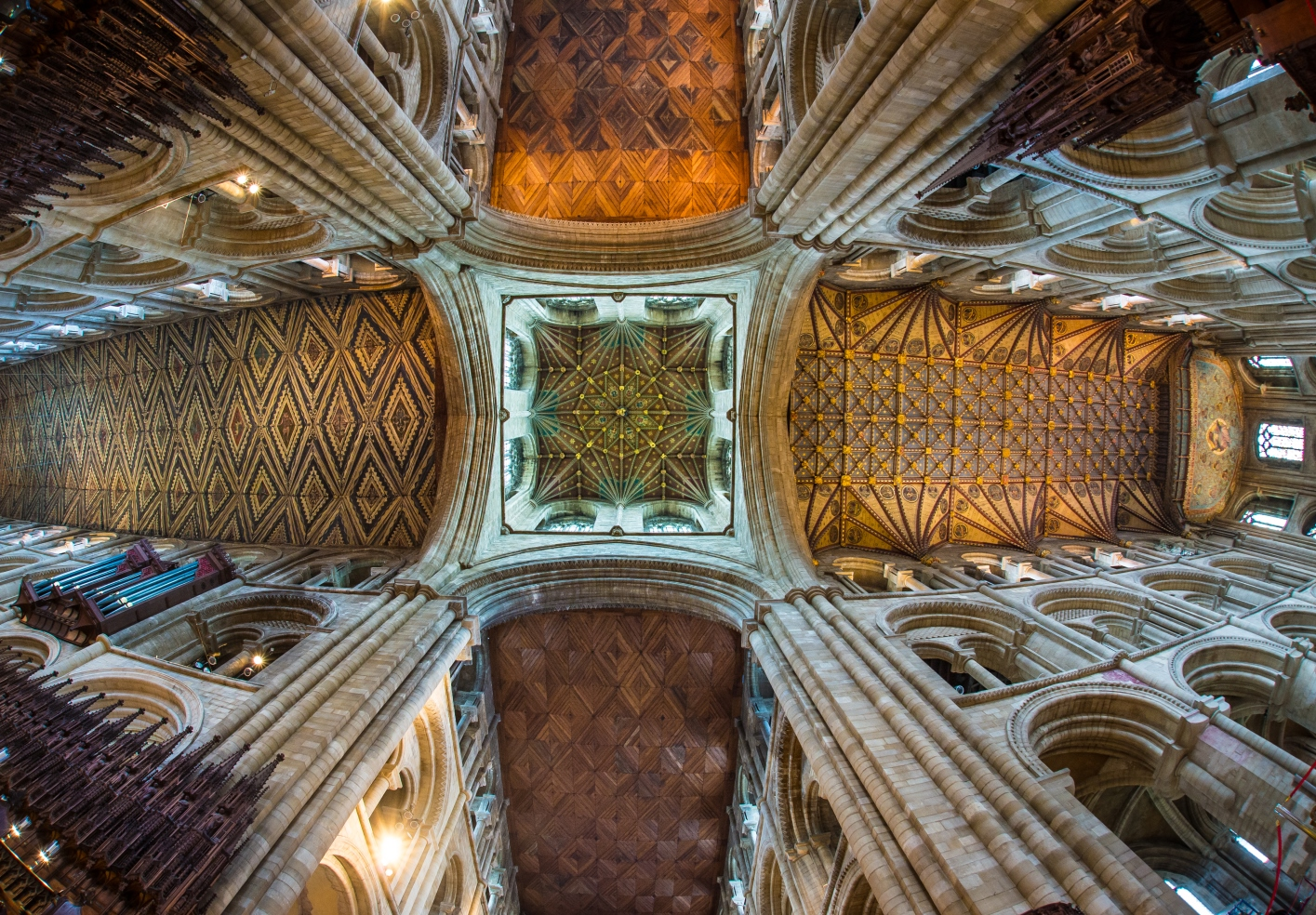 The spectacular ceilings inside Peterborough Cathedral