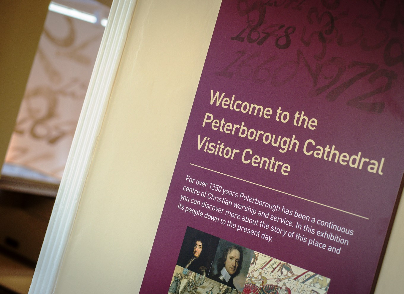 A glimpse of the entrance to the Cathedral Visitor Centre